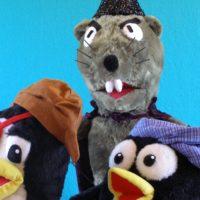 Marionetas del espectáculo Qui y Jote en la Isla de los Piratas
