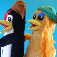 Los pingüinos Qui y Dulcinea