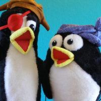 Marionetas de pingüinos