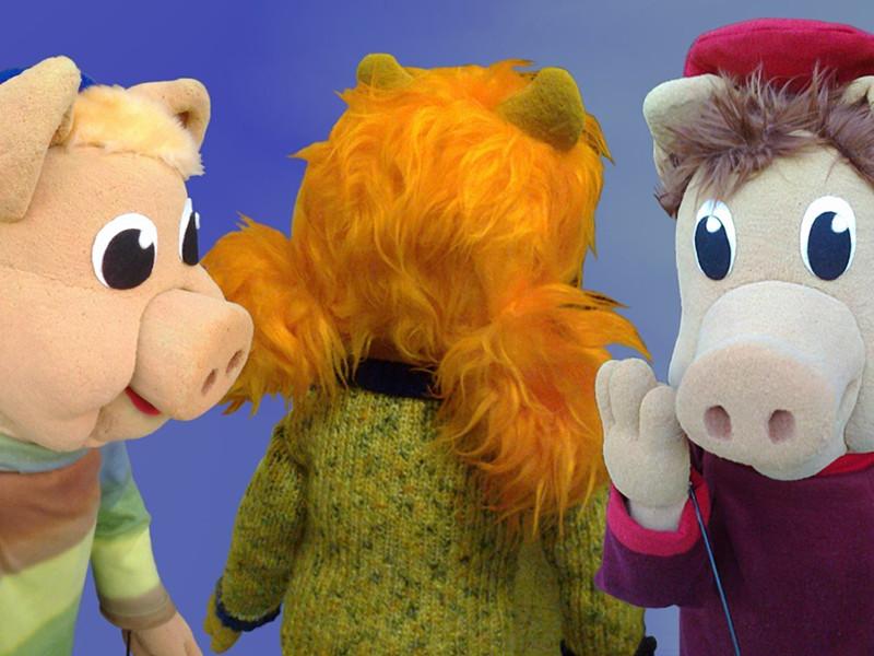 Marionetas de los tres cerditos