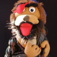 Marioneta de pirata Cara Perro