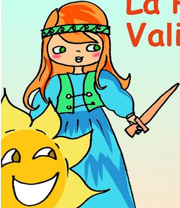 Ilustración princesa y sol